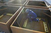 Corten steel planters for public realm