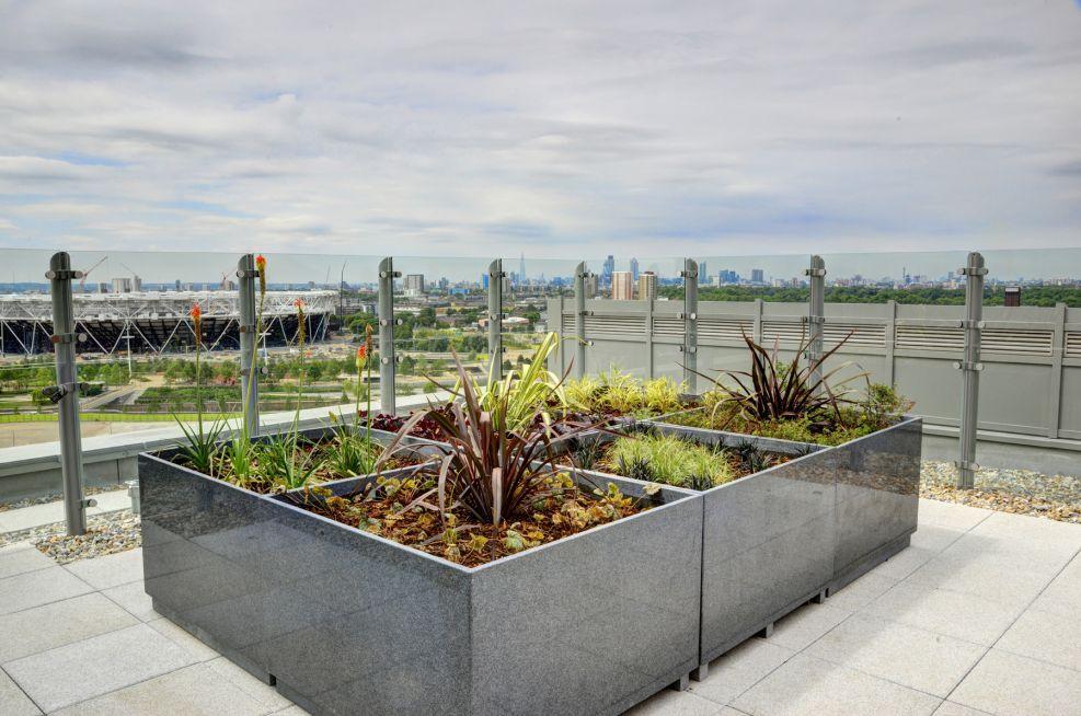 Roof Terrace Granite Planters