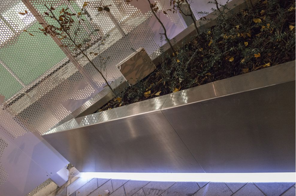 Bespoke planters: 3mm thick 316-grade Stainless Steel with a brushed finish