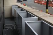 Bespoke Steel Planters Being Installed