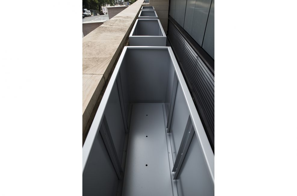 Bespoke Steel Planters With A RAL 9006 Coating
