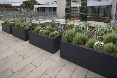 Bespoke Planters at the University of Greenwich, London SE10