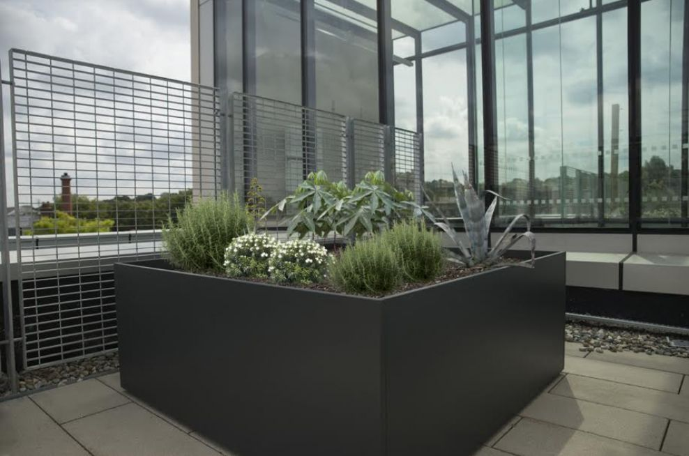 Large Powder Coated Planter