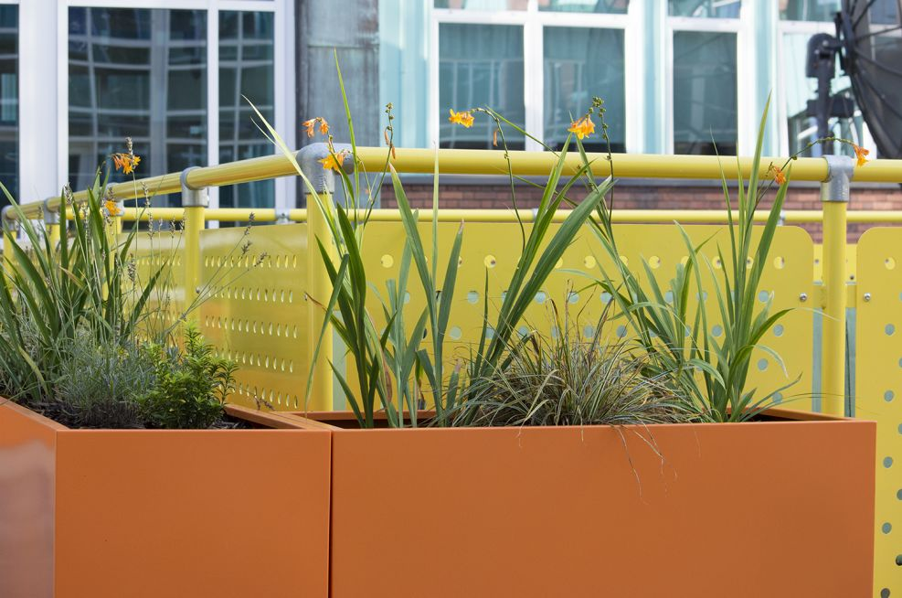 Polyester Powder Coated Planters