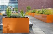 Polyester Powder Coated Pastel Orange Planters