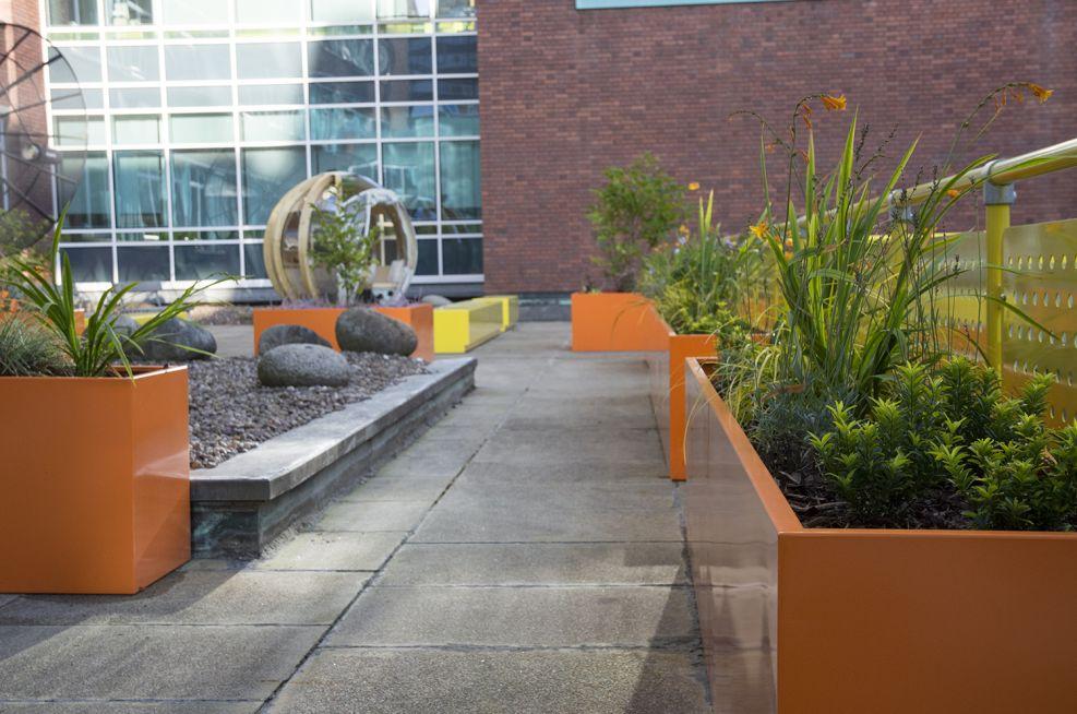 Rectangular Coloured Steel Planters