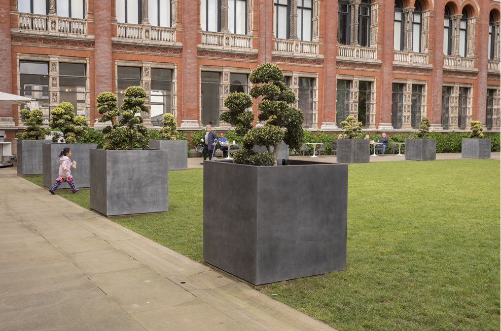 Custom Zinc Tree Planters