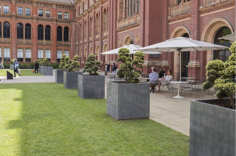 Steel planters with Zinc cladding