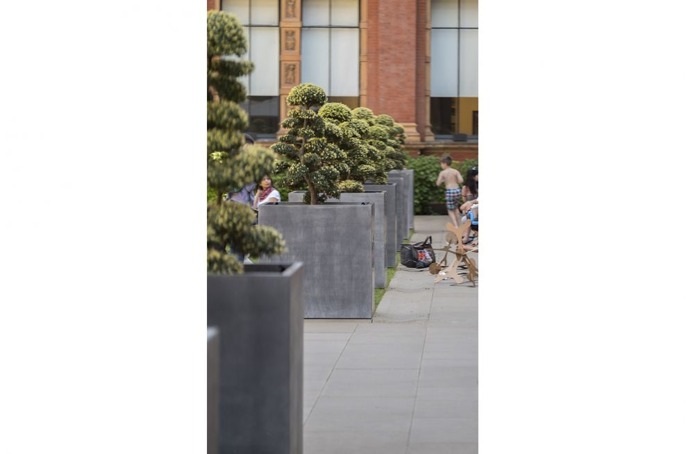 Zinc and Steel Planters for Museums