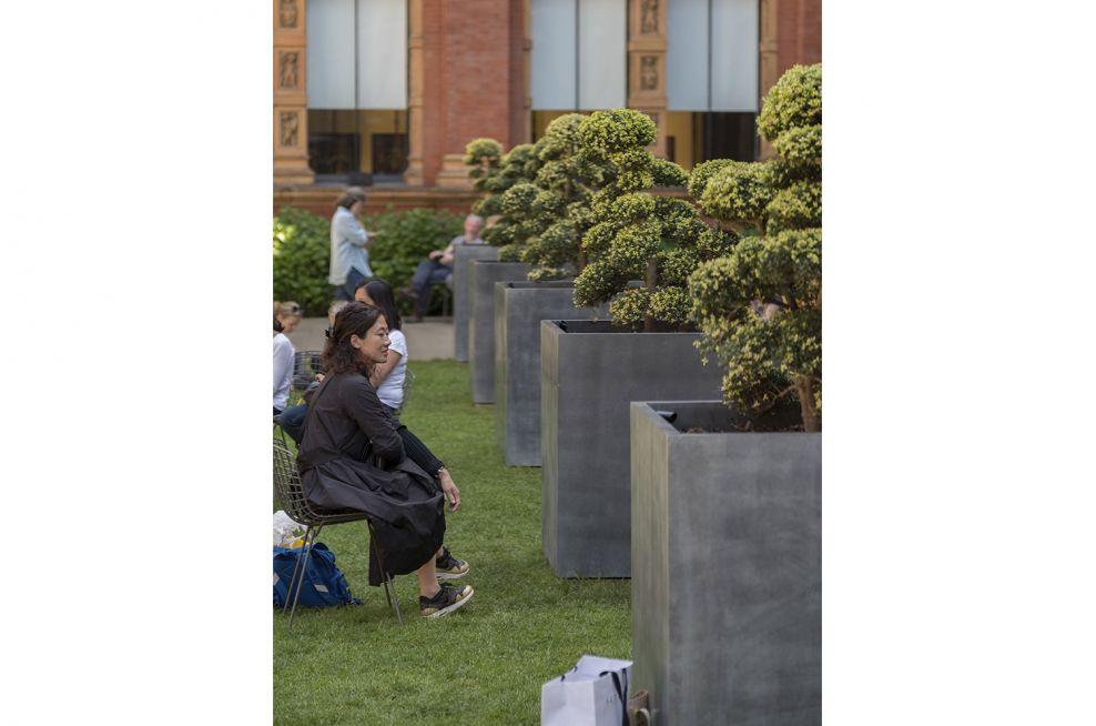 V&A Museum Bespoke Zinc Tree Planters