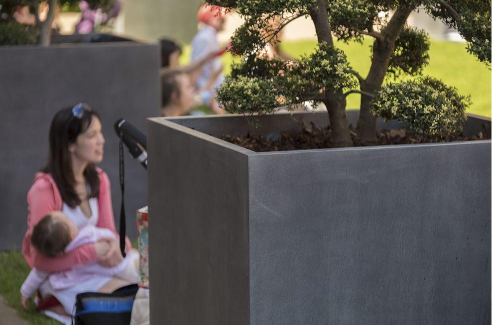 Zinc Planters for Public Garden Spaces