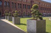 Zinc planters for public realm