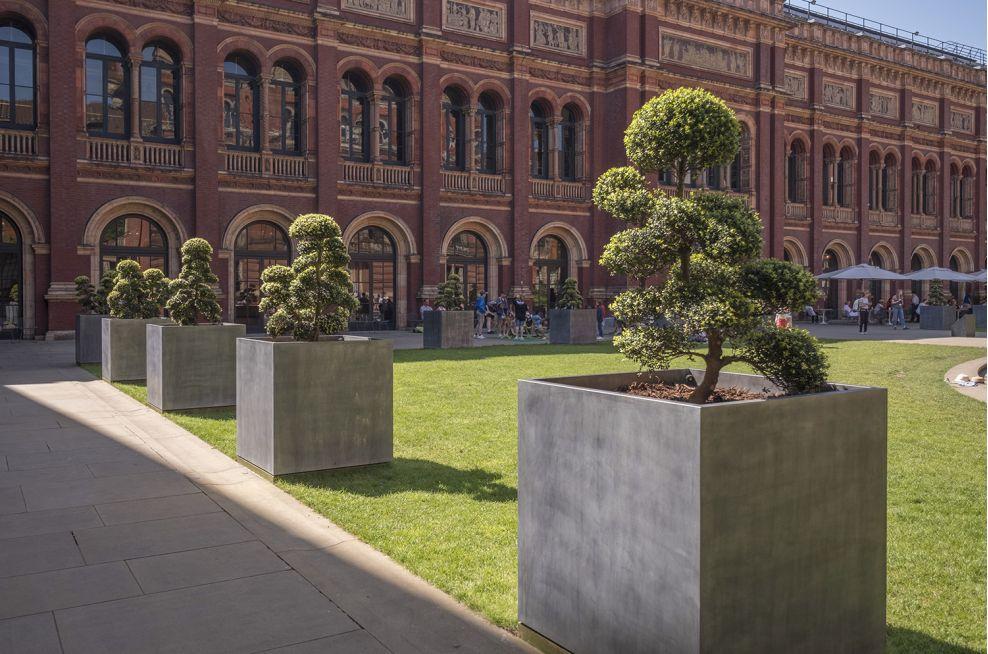 Public Realm Zinc Tree Planters