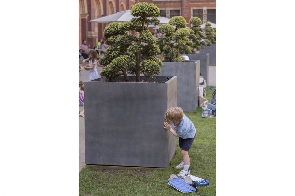 Zinc Tree Planters for Museum