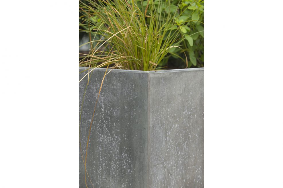 External Planters In Zinc with Patinated Finish