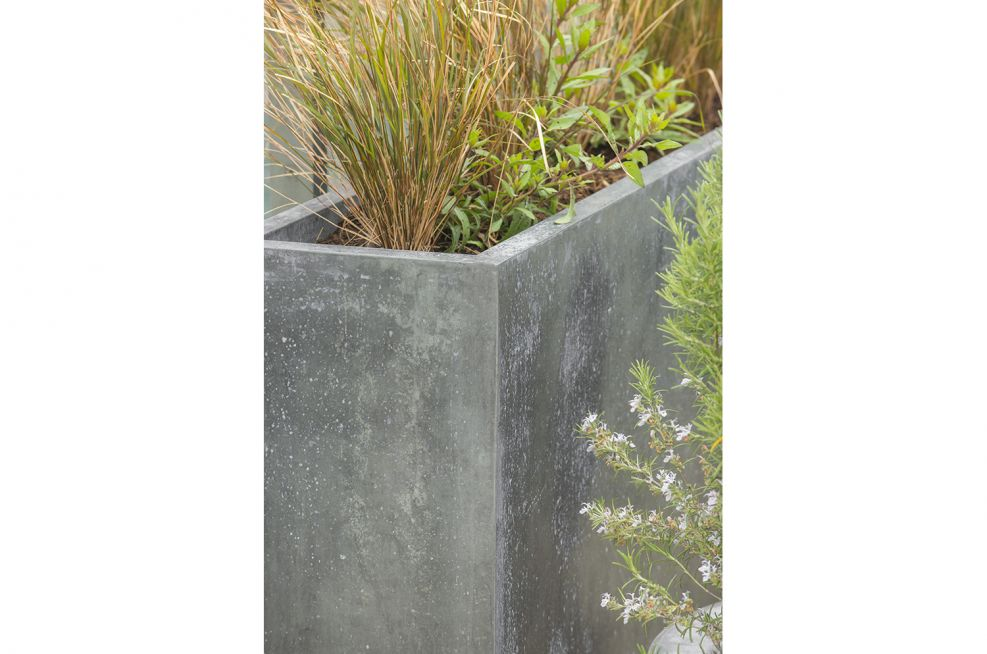 External Steel Framed Planters With Zinc Panels From IOTA