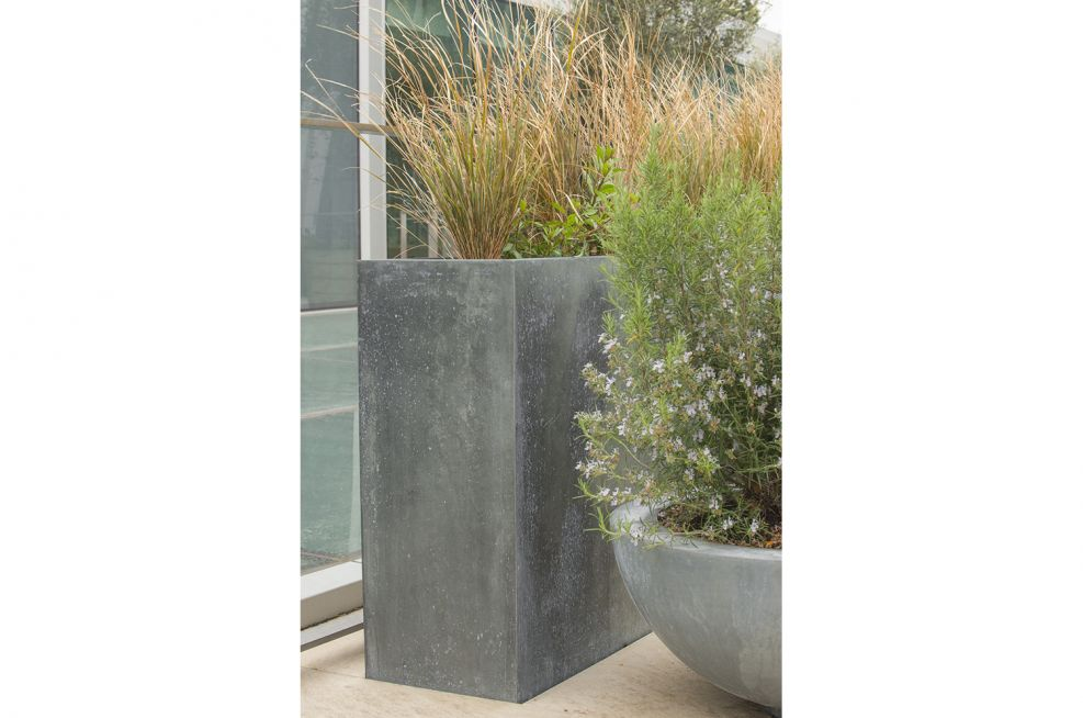 Steel Framed Planters With Zinc Panels