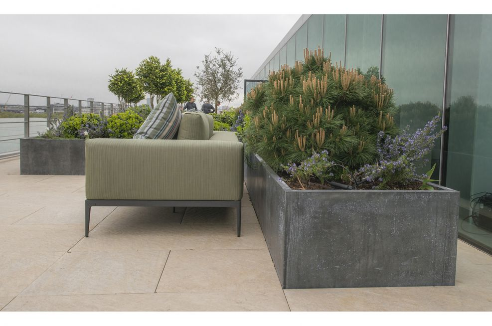 Steel Framed Planters With Zinc Panels From IOTA