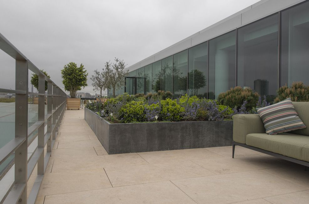 Weather proof Bespoke Zinc Clad Steel Framed Planters