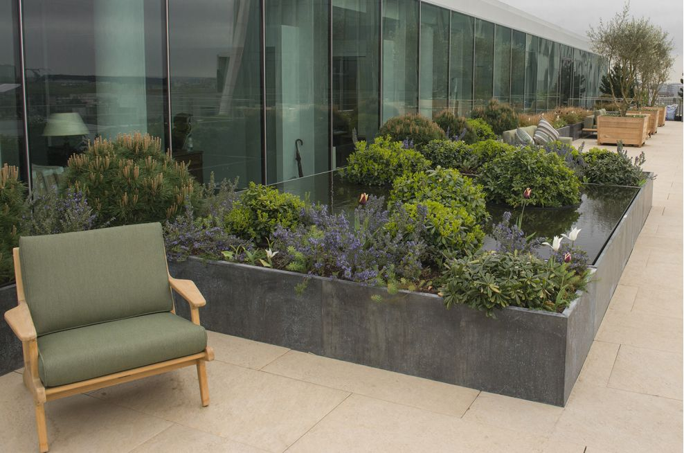 Weatherproof Steel Framed Planters With Zinc Panels
