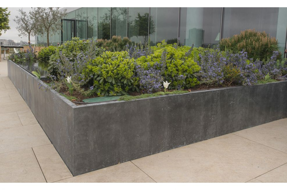 Zinc Cladded Water feature