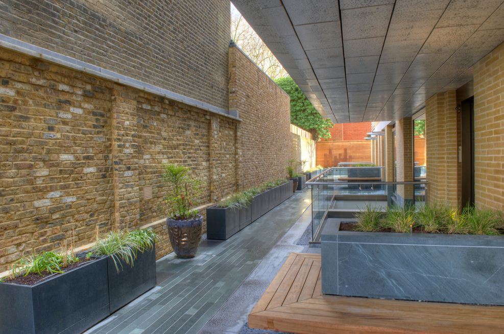 Custom Steel Planters Supplied To The Vicarage Gate House
