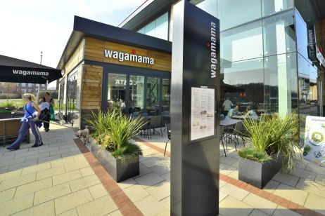 IOTA Granite Trough Planters Wagamama, Whiteley Village Shopping Centre