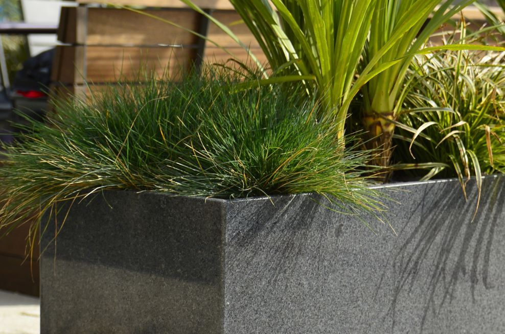 Invisible Metred Corners On Granite Planters