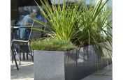 Mid Grey Polished Granite Stone Planters