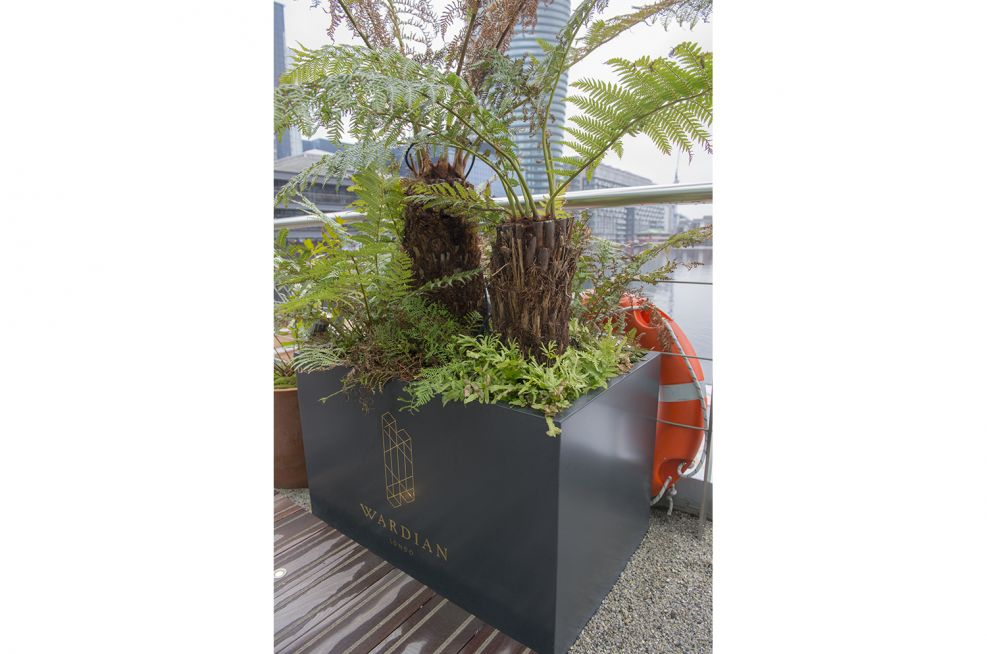 Zintec Steel Planter Overlooking The Thames