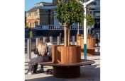 Tree planter with timber seating
