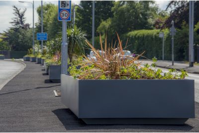 Bespoke Powder Coated Steel Planters For Warrington Borough Council