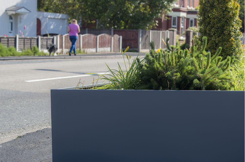 Powder Coated Planters to RAL 7012