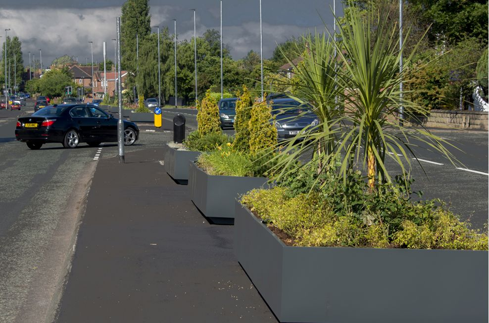 The planters Were Place Along The Roadside