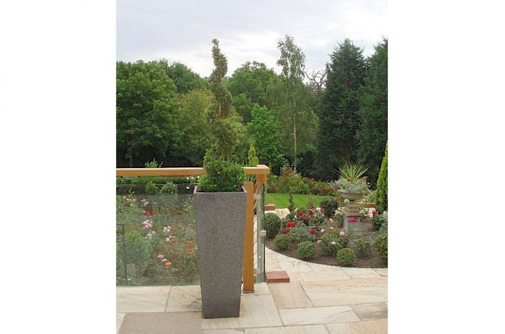 Granite Tall Taper XXL Planters From IOTA