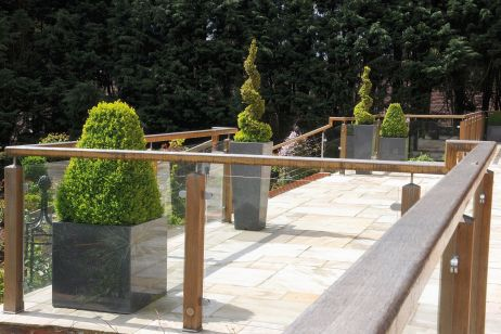 Granite Tapered And Tree Planters At A Weekend Residence In Buckinghamshire