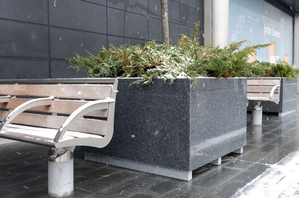 Granite Planters At Westfield Stratford City