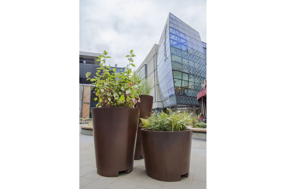Corten Steel Styled Planters Made From Zintec Steel