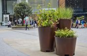 Steel Planters In Faux Corten Steel