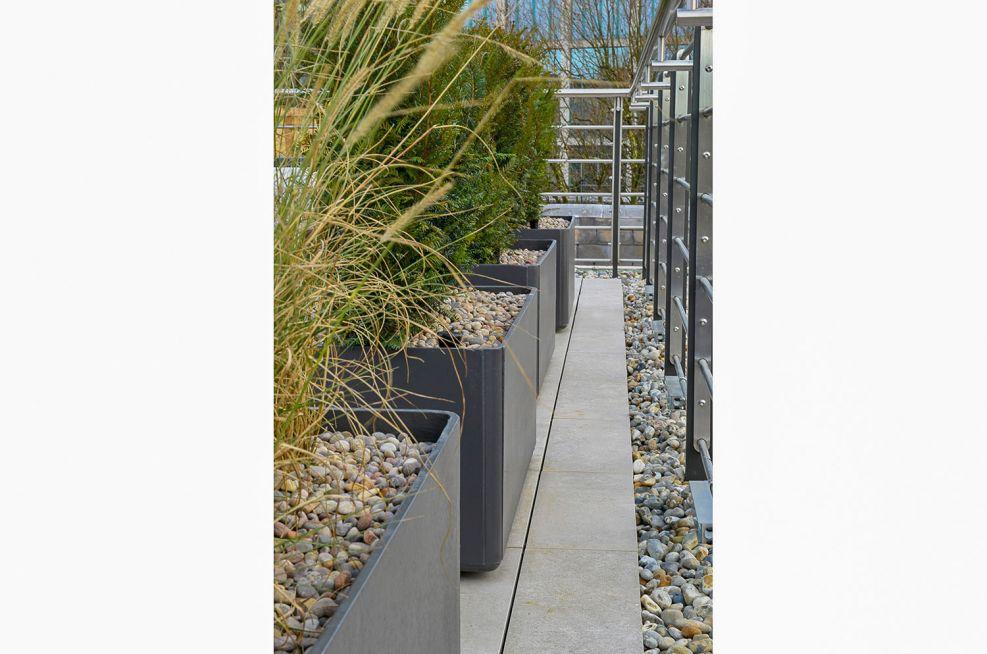 Delta trough composite planters