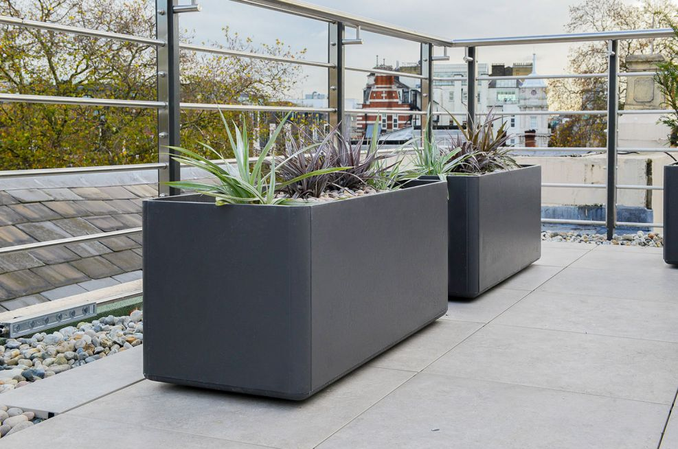 FRC and GRP trough planters