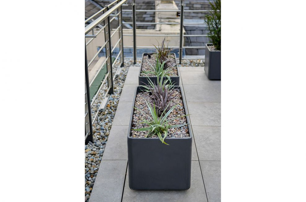 Durable lightweight composite planters