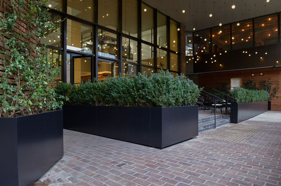 Large sectional planters for privacy