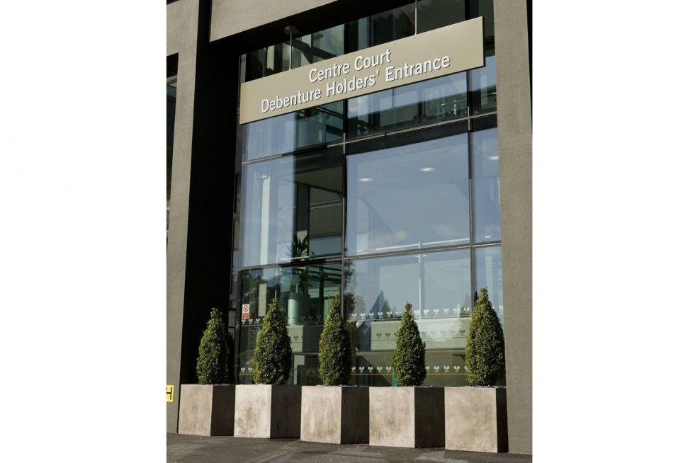 Fresco Planters Italian Style Outside The Centre Court Debenture Holders Entrance