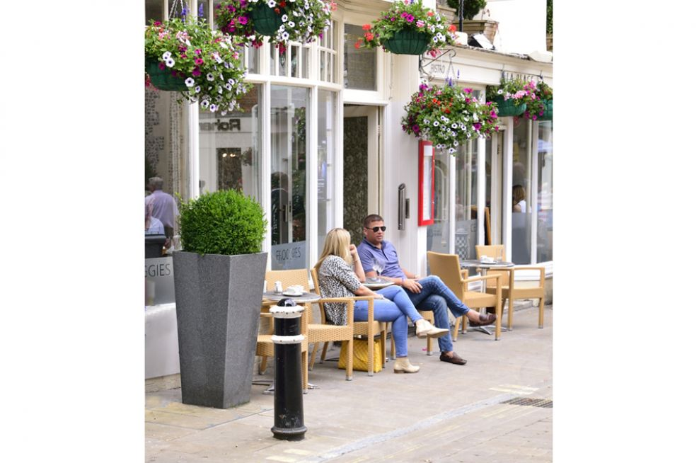 Taper 1100 Planters Lining The Winchester High Street