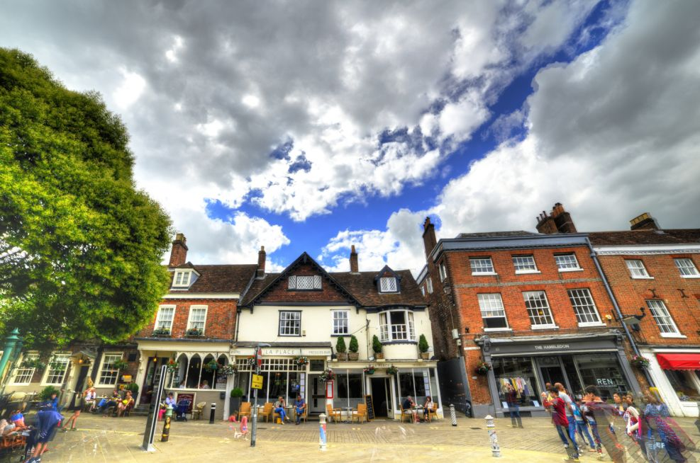 Wideshot of Winchester, The Square