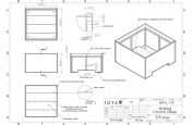 Reinforced movable tree planter CAD design