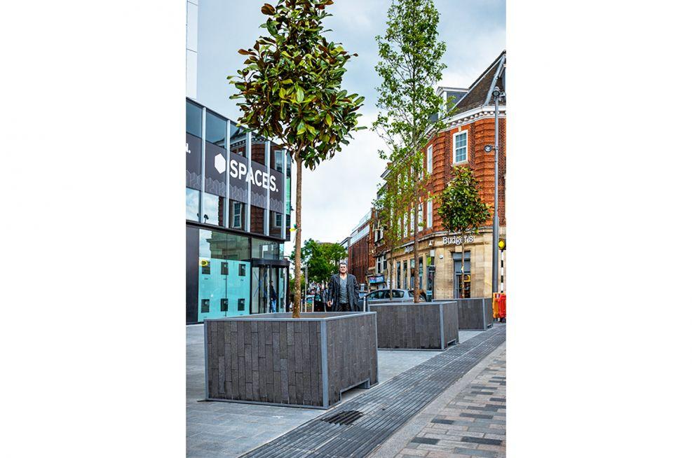 Public planters for town centre