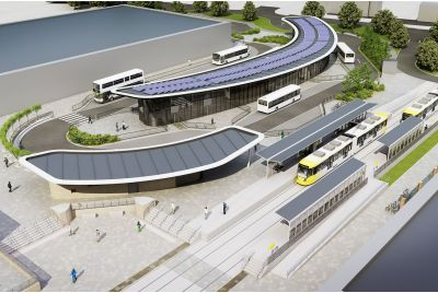 Concept Design Of The Wythenshawe Transport Hub, Manchester