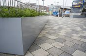 Large Bespoke Powder Coated Steel Trough Planters